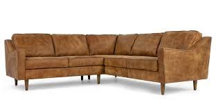 sofa canapé dallas canapé d angle en cuir de qualité supérieure marron clair