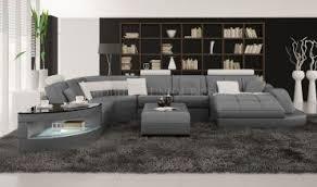 canapé ultra design canapé d angle panoramique en cuir modèle team