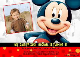 mickey mouse birthday invitations template birthday invitations