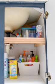 how to organize the sink cabinet bathroom organizing diy cabinet bathroom storage t