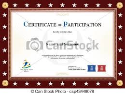 vectors illustration of certificate of participation template