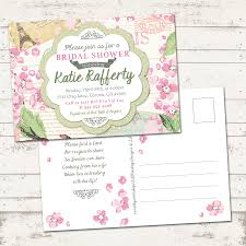 valerie pullam designs bridal shower invitation shabby chic