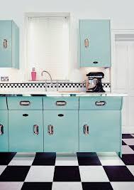 Blue Kitchen Decorating Ideas Kitchen Creme La Gloss Island Blue Kitchen Jpg Retro 50s