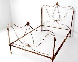 Antique Metal Bed Frame Iron Bed Frame Etsy