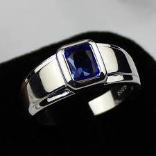 model cincin blue safir aliexpress buy mmdgem mens womens 925 silver oblong blue