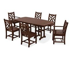 polywood chippendale 7 piece dining set u0026 reviews wayfair