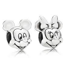 pandora disney mickey mouse minnie mouse portrait charm