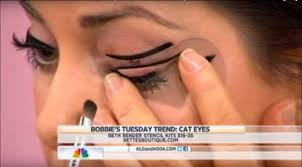 beth bender beauty eyeliner stencils on nbc u0027s today show with