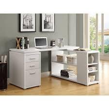 White Modern Computer Desk Office Desk L Shaped Computer Desk With Hutch Home Office Desk