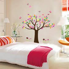 new arrival children room decoration wall sticker tree owl happy