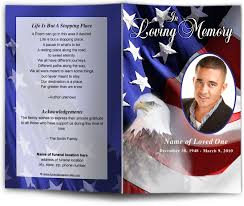 make your own funeral program freedom funeral program template design patriotic