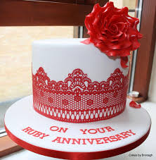 ruby wedding cakes ruby wedding anniversary cakes idea in 2017 wedding