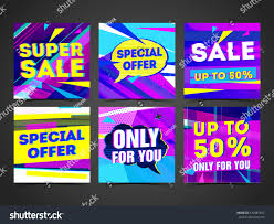super colorful set cyber design template banner card stock vector 570487657