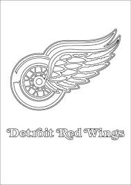 detroit red wings logo coloring free printable coloring pages