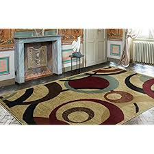 Area Rugs With Circles Amazon Com Sweet Home Stores Modern Circles Design Area Rug 8 U00272