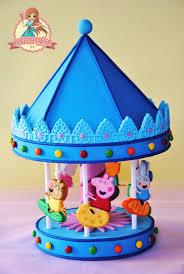 carousel cake topper peppa pig s carousel cake topper cakecentral