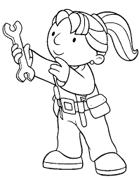 bob the builder wendy coloring page to print and free download