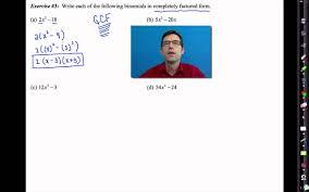 common core algebra i unit 7 lesson 6 more trinomial factoring