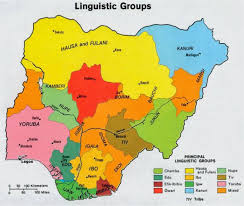 Lagos Africa Map A Linguistic Map Of Nigeria Mapy Pinterest