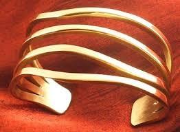 solid metal bracelet images Artistic bronze cuff bracelet jewelry making journal jpg