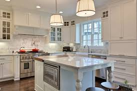 White Dove Benjamin Moore Kitchen Cabinets - white dove cabinets with antique brass pulls transitional kitchen