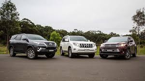 types of suvs toyota suv comparison fortuner v kluger v prado
