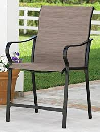 Amazon Com Patio Furniture by Amazon Com Extra Wide High Back Patio Chair Khaki Folding