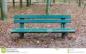 Wooden Park Bench Wooden Park Bench In A Forrest Stock Photo Image 45812283