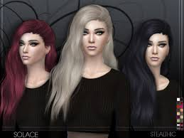 sims 4 hair cc stealthic solace female hair