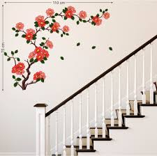 buy decals design floral branch antique flowers wall sticker buy decals design floral branch antique flowers wall sticker pvc vinyl 50 cm x 70 cm online at low prices in india amazon in