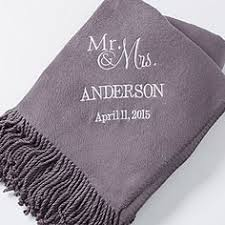 personalized wedding blankets personalized wedding embroidered throws and blankets 25th silver