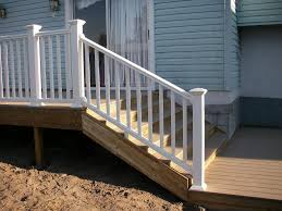 vinyl porch railing attractive and durable vinyl stair railing