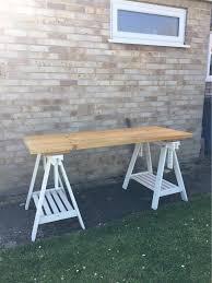 Plank Desk Reclaimed Industrial Scaffold Plank Desk Or Table In Witney