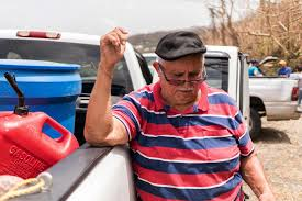 with bottles and buckets puerto ricans seek the water to survive