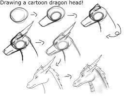 drawing cartoon dragon head crystalcircle deviantart