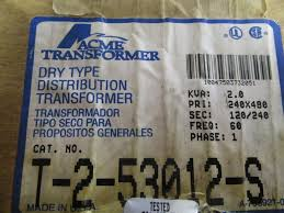 t 2 53012 s t 2 53012 s acme electrical transformers electronic power