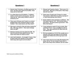 multi step word problems 5th grade printable multi step word problems by tunnicliffe teaching