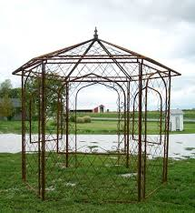 15 X 15 Metal Gazebo by Wrought Iron Gazebo Arbor Metal Open Windows