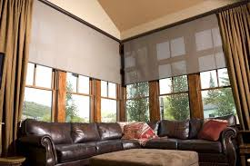 curtain ideas for large windows in living room large window covering ideas midl furniture
