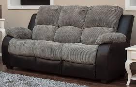Recliner Fabric Sofa Milton 3 Seater Reclining Fabric Sofa Charcoal