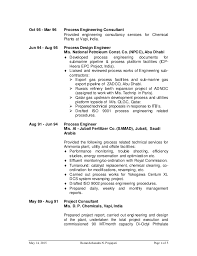 Chemical Engineer Resume Examples by R Prajapati Cv For Process Engineer For Oil And Gas Website