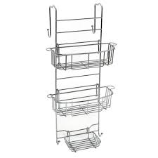 Bathtub Caddy Home Depot by Zenna Home Over The Shower Door Caddy In Stainless Steel E7803stbb