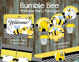 bumble bee baby shower theme bee baby shower etsy