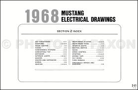 1968 mustang dimensions 1968 ford mustang wiring diagram original