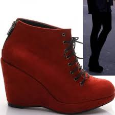 womens boots zip up back s wedge heels ankle boots