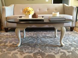 Refinishing Coffee Table Ideas by Queen Anne Style Coffee Table Painted White With Light Distressing