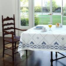 Dining Room Tablecloths Anfa Blue And White Tablecloth Contemporary Tablecloths