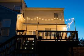outdoor deck string lights for fun summer nights
