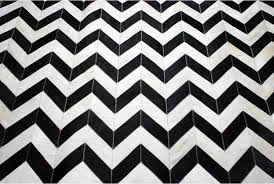 Cowhide Rug Patchwork Black And White Chevron Patchwork Cowhide Rug Design Shine Rugs
