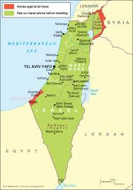 political map of israel the occupied palestinian territories travel advice gov uk